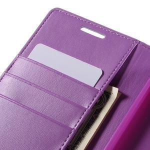 Sonata PU kožené peněženkové pouzdro na Sony Xperia Z5 - fialové - 7