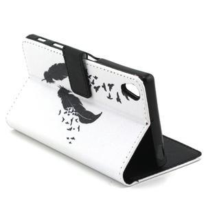 Cross peněženkové pouzdro na Sony Xperia Z5 - ptačí peříčka - 7
