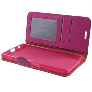 Grid PU kožené pouzdro na Sony Xperia Z5 - rose - 7