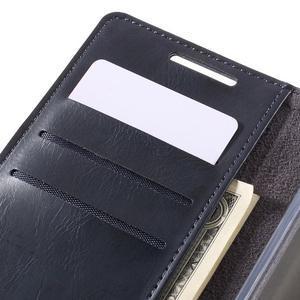 Moon PU kožené pouzdro na Sony Xperia Z5 - tmavěmodré - 7