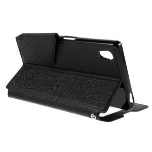 Diary pouzdro s okýnkem na Sony Xperia Z5 - černé - 7