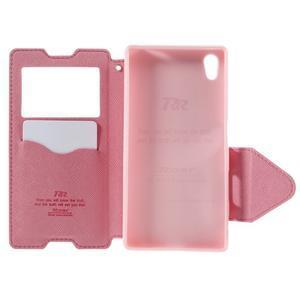 Diary pouzdro s okýnkem na Sony Xperia Z5 - rose - 7