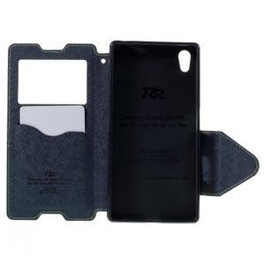 Diary pouzdro s okýnkem na Sony Xperia Z5 - zelené - 7