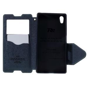 Diary pouzdro s okýnkem na Sony Xperia Z5 - světlemodré - 7