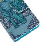 Diary peněženkové pouzdro na Sony Xperia Z5 Compact - slon - 7/7
