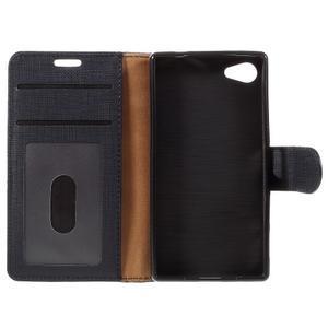 Grid peněženkové pouzdro na mobil Sony Xperia Z5 Compact - černé - 7