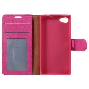 Grid peněženkové pouzdro na mobil Sony Xperia Z5 Compact - rose - 7