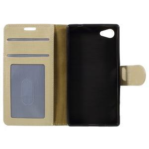 Grid peněženkové pouzdro na mobil Sony Xperia Z5 Compact - champagne - 7