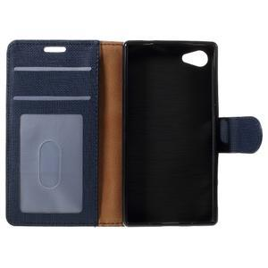 Grid peněženkové pouzdro na mobil Sony Xperia Z5 Compact - tmavěmodré - 7