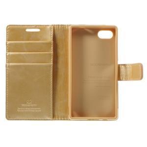 Bluemoon PU kožené pouzdro na Sony Xperia Z5 Compact - zlaté - 7