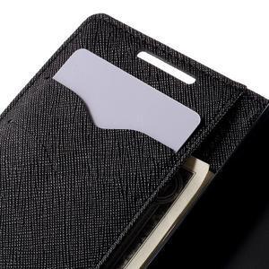 Fancy PU kožené pouzdro na Sony Xperia Z5 Compact - černé - 7