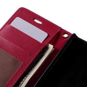 Croco peněženkové pouzdro na Sony Xperia Z5 Compact - červené - 7