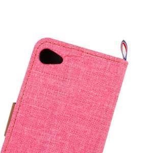 Cloth peněženkové pouzdro na mobil Sony Xperia Z5 Compact - růžové - 7