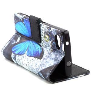 Peněženkové pouzdro na mobil Sony Xperia Z5 Compact - modý motýl - 7