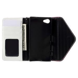 Stylové peněženkové pouzdro na Sony Xperia Z5 Compact - rose - 7