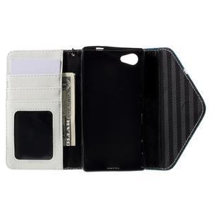 Stylové peněženkové pouzdro na Sony Xperia Z5 Compact - modré - 7