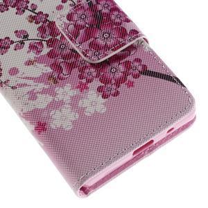 Diary peněženkové pouzdro na Sony Xperia Z5 Compact - květoucí větvička - 7