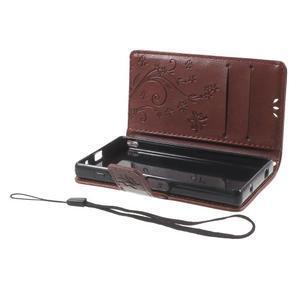 Butterfly peněženkové pouzdro na Sony Xperia Z5 Compact - hnědé - 7