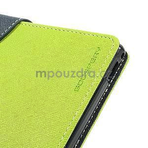 Peněženkové PU kožené pouzdro na Sony Z Ultra - zelené - 7
