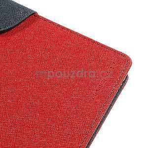 Peněženkové PU kožené pouzdro na Sony Z Ultra - červené - 7