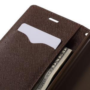 Diary PU kožené pouzdro na mobil Xiaomi Redmi 3 - černé/hnědé - 7