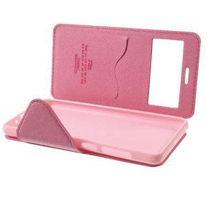 Diary view peněženkové pouzdro na Xiaomi Redmi 3 - rose - 7