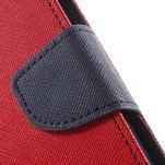 Goos PU kožené pouzdro na Xiaomi Redmi Note 2 - červené - 7/7