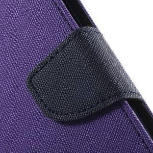 Goos PU kožené pouzdro na Xiaomi Redmi Note 2 - fialové - 7
