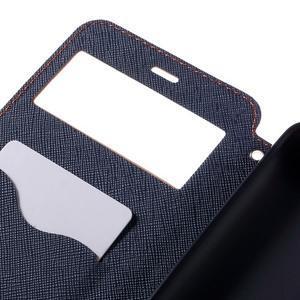 Diary pouzdro s okýnkem na mobil Xiaomi Redmi Note 3  - světlemodré - 7