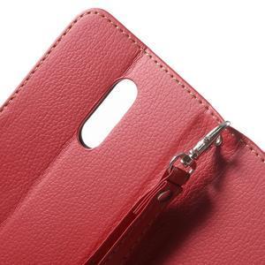 Leaf peněženkové pouzdro na Xiaomi Redmi Note 3 - červené - 7