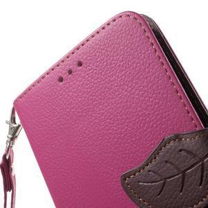 Leaf peněženkové pouzdro na Xiaomi Redmi Note 3 - rose - 7