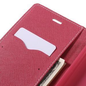Wallet PU kožené pouzdra na Xiaomi Redmi Note 3 - růžové - 7