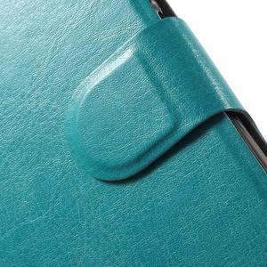 Horse PU kožené pouzdro na Xiaomi Redmi Note 3 - modré - 7