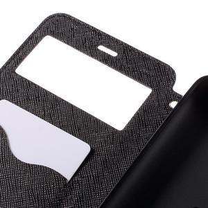 Diary pouzdro s okýnkem na mobil Xiaomi Redmi Note 3  - černé - 7