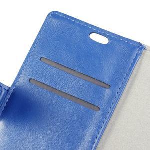 Leat PU kožené pouzdro Lenovo Vibe P1 - modré - 7
