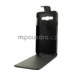 PU kožené flipové pouzdro na Samsung Galaxy A3 - černé - 7