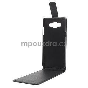 PU kožené flipové pouzdro na Samsung Galaxy A5 - černé - 7