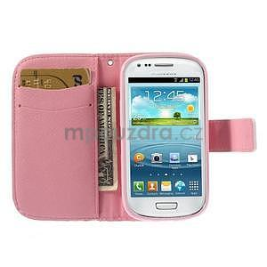 Peněženkové pouzdro na Samsung Galaxy S3 mini - srdce - 7
