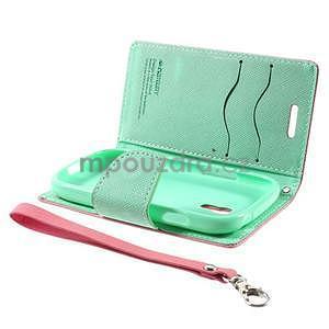 Diary peněženkové pouzdro na mobil Samsung Galaxy S3 mini - růžové/azurové - 7