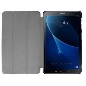 Trifold polohovatelné pouzdro na Samsung Galaxy Tab A 10.1 (2016) - hnědé - 7