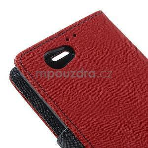 Fancy peněženkové pouzdro na Sony Xperia Z1 Compact - červené - 7