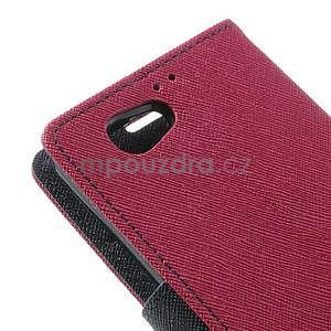 Fancy peněženkové pouzdro na Sony Xperia Z1 Compact - rose - 7