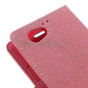 Fancy peněženkové pouzdro na Sony Xperia Z1 Compact - růžové - 7