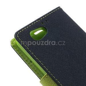 Fancy peněženkové pouzdro na Sony Xperia Z1 Compact - tmavěmodré - 7