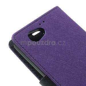 Fancy peněženkové pouzdro na Sony Xperia Z1 Compact - fialové - 7