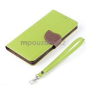 Leaf peněženkové pouzdro na Sony Xperia Z3 Compact - zelené - 7