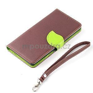 Leaf peněženkové pouzdro na Sony Xperia Z3 Compact - hnědé - 7