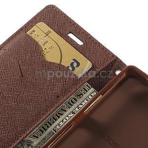 Diary peněženkové pouzdro na mobil Sony Xperia Z3 Compact - černé/hnědé - 7