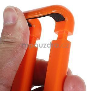 Selfie tyč s automatickým spínačem na rukojeti - oranžová - 7