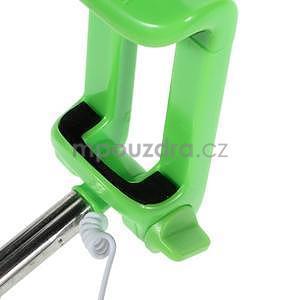Selfie tyč s automatickým spínačem na rukojeti - zelená - 7